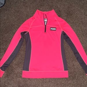 A quarter zip up from pink